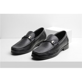 Men Shoes handmade Natural Cow Leather Men Loafers #TT730