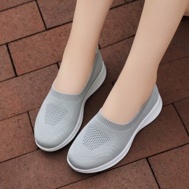 Slip-on breathable mesh sock women casual flat shoes loafers vulcanized shoes woman plus size